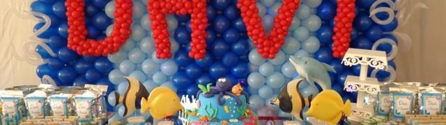 """Festa Infantil """"Fundo do Mar"""" – 1 ano do Davi"""